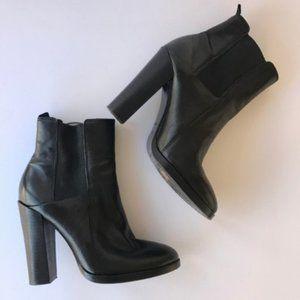 Alexander Wang Women Boots Black Leather Heel 6